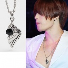 Jaejoong necklace ※ black wing necklace