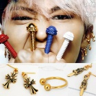 The latest g-dragon Fashion ★ crayons ★ GOLD ver earrings |. Chrome st gold earrings that Ji is favored by concerts and photography