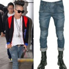 Taeyang (SOL), the topic at Yunho Airport Fashion of TVXQ! ! BAL st ** Blue biker denim