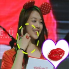 f (x) lips ring !! cute design Sulli was fit of