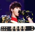 Korea idle INFINITE (Infinite) Hoya is skull motif is impressive leather bracelet you gave of