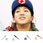 B1A4 Baro is the motif of the bat and the ball with earrings (sold in pairs)