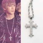 cross necklace BAP style * BAP Himuchan has become a hot topic and was Golden Disk Awards