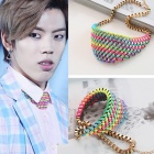 RAINBOW STRING necklace Dong of INFINITE has worn