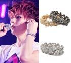 Cubic material Shine Skull bracelet Hyonsun of BEAST has worn ★