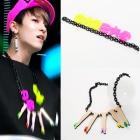 TEENTOP style ★ unique BLACK chain necklace