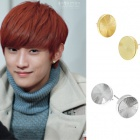 B1A4 effect circle earrings Jin-young has been a favorite of