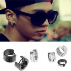 BAP style ☆ white mirror one-touch earrings