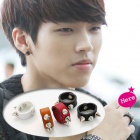 stud leather ring FTisland of Hong Gi, is Uhyon of INFINITE wore
