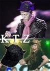 ktz Korea Fashion   idle BIGBANG of G-DRAGON, F (X), KTZ angle cap was BEAST wear KTZ ★ LMAE HAT HORNS