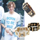 Gold Cubic leather bracelet Dong of INFINITE has worn