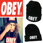 International celebrity fashion ★ OBEY beanie ★