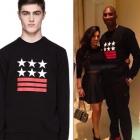 ★★SALE★★ Kobe Bryant wear GIVENC ** st.STAR STRIPE trainer