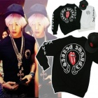 K-POP STAR favorite brand @ Chrome Hearts & Rollingstones style Back Point trainer