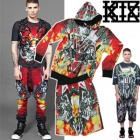 ★★SALE★★韓 Korea popular street brand ★ KTZ st. Double Gun Hoodie ZIP UP & Gun Half Pants SET (another possible purchase)