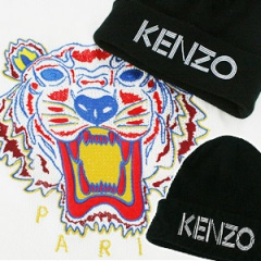 ★ KIRANG POPULAR ITEM ★ international celebrities' favorite brand KENZ * st. Logo print BEANIE