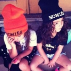 Overseas street fashion ★ celebrities favorite Homies style embroidered beanie (2Colors)