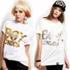 ★DAY SHIPPING★ Street has attracted Korea popular brand ★ recently popular fashion brand BOY LONDON st.Silver or Gold printing Eagle Boy half T-shirt