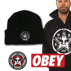 OBEYst.STAR LOGO PRINT knit hat STREET FASHION popular brands OBEY wind