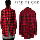 ★★SALE★★Fear of God Los Angeles Kazeura Zipper Long Check Shirt (2color) Layered easy item