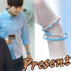 Super Junior Kyu twist color rope bracelet wearing (unisex) Twist Color Rope Bracelet