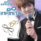 Overseas popular idol accessories mail order Infinity two ring (2color)