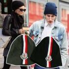International celebrities of Beanie Fashion plain clothes ★ MONCLE * wind 3Line Point Short Beanie (2color)