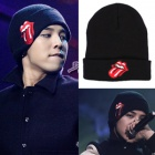 [BIGBANG / G-dragon style!] Red Tongue embroidery beanie