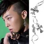 BIGBANG G-DRAGON · EXO wear style Hearts Cross ring Pierce(Pair)★ Korea idle plainclothes mail order KIRANG KOREA