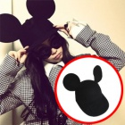 Latest street fashion mail order 2ne1 CL · Henry wearing Mickey ears of cap (2color)