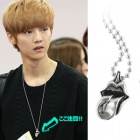 K-POP IDOL plainclothes mail order ★ Korea popular idol EXO Lujan wear style Rolling Stone Unique Necklace