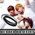 k-pop mail order ★ Idol style ☆ EXO, SHINEE Rubber Ring Bracelet 3 Type ☆ idle favorite items ☆