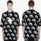 ★★SALE★★Overseas popular street fashion mail order K * KON TO ZAI KTZ wind Flag Point Printing short sleeve T-shirt (2Color · unisex)