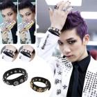 South Korea popular idol Accessories Shop | VIXX wear style Skull and Cross Bracelet
