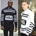 ★★SALE★★Popular street fashion brands HBA wind Typo Striped printing Regular Shirt (2color)