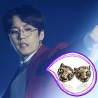 K-POP IDOL Block B wear style accessories mail order breath Lepard earrings (2Color)