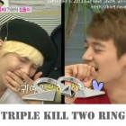 K-POP IDOL SHINee Key wear style Triple Kill Two Ring Accessory Store