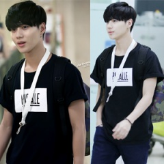 ★PROMPT DELIVERY★SHINee Temin plainclothes mail order popular street fashion Pigalle st. Textile printing short sleeve T-shirt (unisex · 3color)