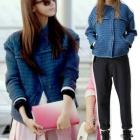 ★ discount 45% Sale ★ [Girls] Yuna wear DK style blue denim quilted jacket