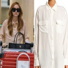♥ Girls LOVE30% discount ♥ popular actress Song Hye Kyo, Shin Min'a, Lee Hyori, Girls Jessica favorite eqiupment st. Plain blouse