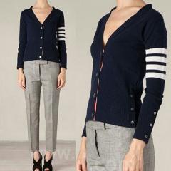 GD, Kim Soo Hyun, Lee Jung Jae style | Th * m browne style WHITE 4stripe Cardigan Navy (2TYPE)