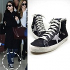 [25.5~28.0cm]Girls generation, MISS A, Jeon Do Yeon, Kim Soo-hyun style! Sneakers! GOLDEN GOO ** STYLE CONVERSE BLACK SNEAKERS