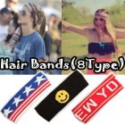 * Street Fashion * popular items cotton point scan wait Hair Bands (8 types)