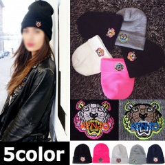 Street Fashion | KENZ * STYLE TIGER embroidery Beanie (5COLORS)