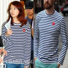 Yoon Eun Hye, celebrity over fashion Comm * des g * rcons st. Stripe mini emblem Long T- shirts (unisex)