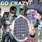 "2PM of new song ""GO CRAZY!"", Lee Jung Jae, Yoo Ah-in, Kim Woo-bin style THOM * BROWN * st. Three stripe check shirt"