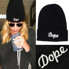 Street fashion! DOPE lettering embroidery beanie/ popular item
