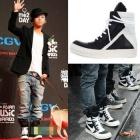 [35% discount guerrilla] 2NE1, BIGBANG favorite plainclothes items Rick Owen @ .st monochrome high-top (Black & White)