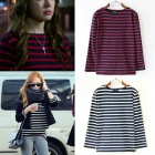 * Girls Jessica, EXO Suho, Yun'une of [want to see] Korean dramas, such as wearing Song Hye Kyo of [winter, the wind blows]! Color striped long-sleeved T-shirt