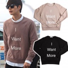 ★ customers thank SALE ★ came from the star of your Park Hae-jin Airport Fashion style! ACN * STYLE I WANT MORE LOGO T-SHIRTS (brushed back / unisex)